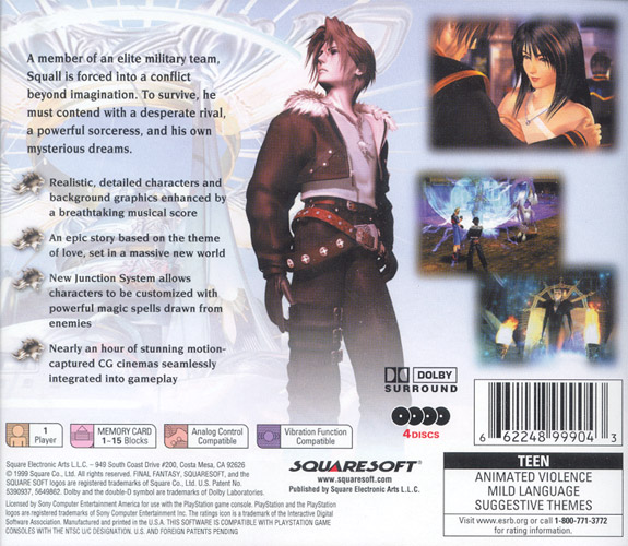 Final Fantasy VIII [NTSC-U] [Disc1of4] ISO < PSX ISOs | Emuparadise